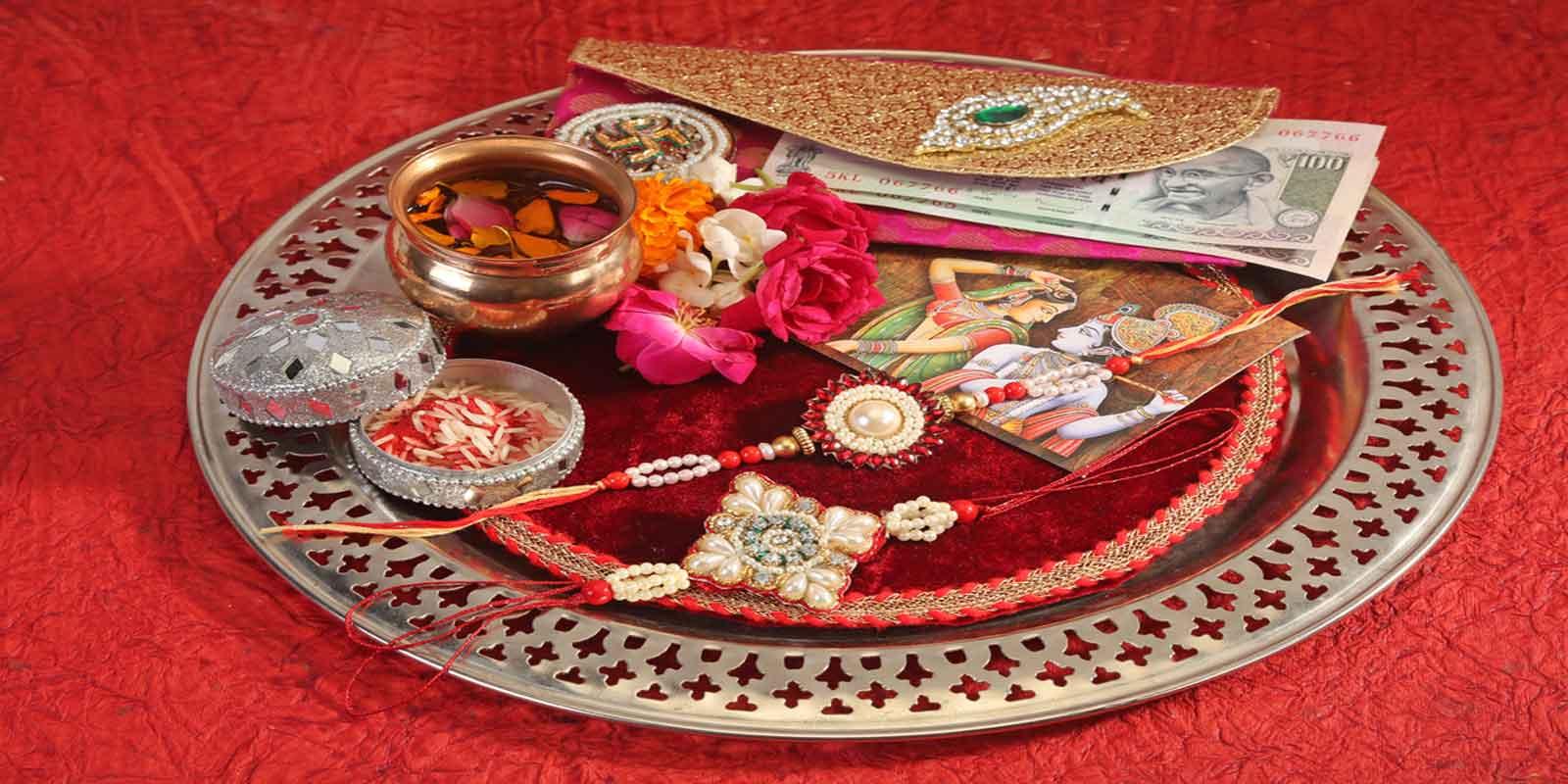 Raksha Bandhan Thali Decoration at Home