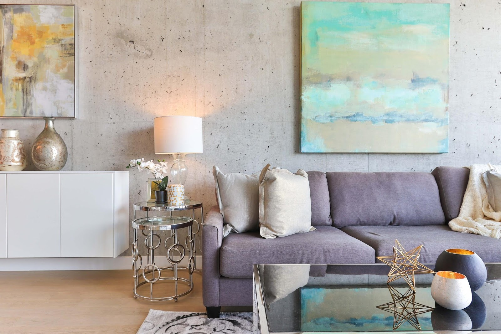 Hang different artworks on the wall